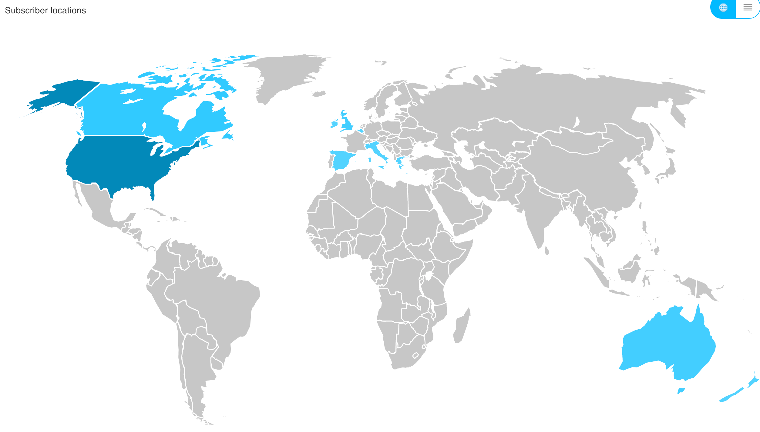 subscriber locations